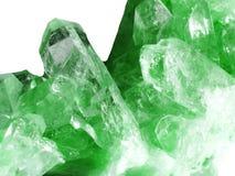 Cristalli geologici di geode di cristallo del quarzo dell'acquamarina Fotografia Stock