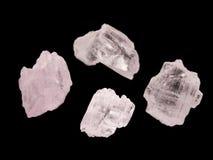 Cristalli rosa dello spodumene della gemma Immagine Stock Libera da Diritti