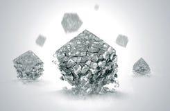 Cristalli rotti Fotografia Stock Libera da Diritti