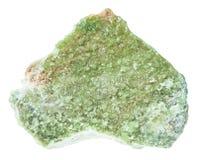 Cristalli ruvidi di idocrase del vesuvianite isolati Immagine Stock Libera da Diritti