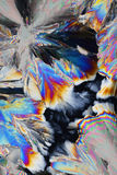 Cristalli variopinti dell'acido citrico Fotografie Stock Libere da Diritti