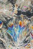 Cristalli variopinti dell'acido citrico immagine stock libera da diritti