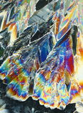 Cristalli variopinti dell'acido citrico fotografia stock