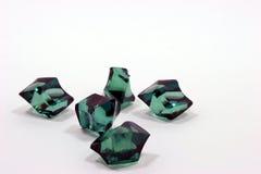 Cristalli verdi Fotografia Stock Libera da Diritti