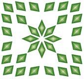 Cristalli verdi e bianchi Immagini Stock
