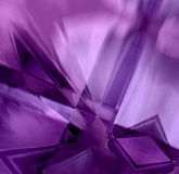 Cristalli viola del prisma Fotografie Stock