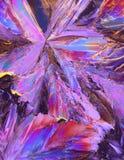Cristalli viola dell'acido citrico Fotografia Stock Libera da Diritti