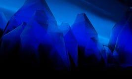 Cristallo blu scuro di Keabbo illustrazione vettoriale