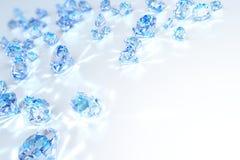 Cristallo del blu del diamante Fotografia Stock