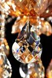 Cristallo dell'oro del champagne Fotografia Stock