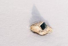 Cristallo della pirite Fotografia Stock Libera da Diritti