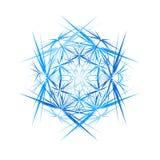 Cristallo di ghiaccio astratto Astrazione rotonda delle spine Vettore illustrazione vettoriale