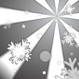 Cristallo di ghiaccio e fondo di carta di stile della neve illustrazione vettoriale