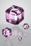 cristallo di porpora 3D Immagine Stock Libera da Diritti