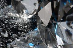 Cristallo e liquido Immagini Stock