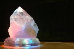 Cristallo illuminato Fotografia Stock