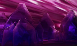 Cristallo porpora di Keabbo illustrazione di stock