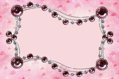Cristallo rosso sul colore rosa Fotografia Stock Libera da Diritti