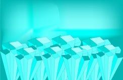 Cristals del hielo stock de ilustración