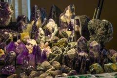 Cristals púrpura Imagen de archivo libre de regalías