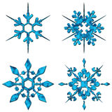 Cristaux bleus de neige Image libre de droits