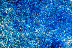 Cristaux bleus de station thermale Image libre de droits
