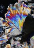 Cristaux colorés d'acide citrique photo libre de droits