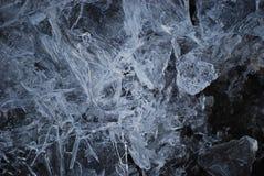 Cristaux de glace cassés Photographie stock libre de droits
