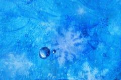 Cristaux de glace en glace Image libre de droits