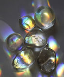 Cristaux de quartz d'arc-en-ciel images libres de droits