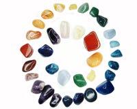 Cristaux géologiques d'agate de sodalite de grenat de quartz d'améthyste Image libre de droits