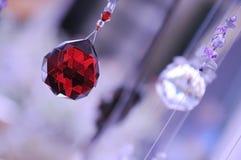 Cristaux rougeoyants décoratifs Photos stock
