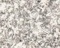 Cristaux triples de phosphate en sédiment humain d'urine Photographie stock