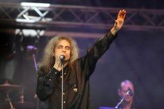 Cristi Minculescu. Cristi Mingulescu - Iris - singer of famous romanian rock bands stock photo