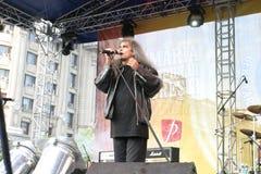 Cristi Minculescu. Cristi Mingulescu - ex Iris - singer of famous romanian rock bands stock image