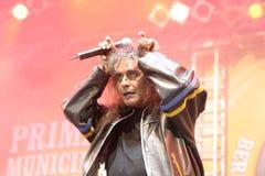 Cristi Minculescu. Cristi Mingulescu - ex Iris - singer of famous romanian rock bands stock images