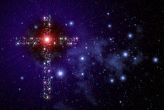 Cristian Cross Space stock image
