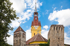 Cristian Fortified Church. The fortified church in Cristian Village, Brasov County, Romania Royalty Free Stock Images