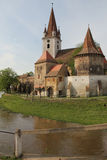 Cristian fortified church. The fortified church of Cristian, Romania, near Sibiu. Southeastern Transylvania in Romania has one of the highest numbers of still Stock Images