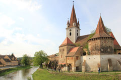 Cristian fortified church. The fortified church of Cristian, Romania, near Sibiu. Southeastern Transylvania in Romania has one of the highest numbers of still Royalty Free Stock Images