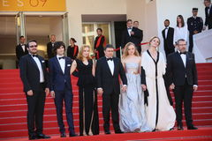 Cristian Mungiu, Maria Dragus, Adrian Titieni and Lia Bugnar. Attends the 'Graduation (Bacalaureat)' Premiere during the 69th Cannes Film Festival at the Palais Stock Images