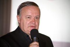 Cristian Topescu. Is a famous romanian sports commentator Stock Image