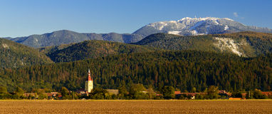 Cristian village and poiana brasov in romania Royalty Free Stock Image
