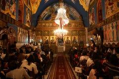 Cristiani palestinesi alla chiesa della st Porphyrius a Gaza Fotografie Stock
