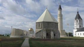 Cristianismo e Islam en la ciudad antigua de Bolgar, Rusia almacen de metraje de vídeo