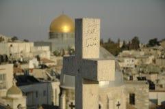 Cristianità contro islam Fotografie Stock Libere da Diritti