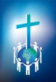 Cristianità e mondo Immagine Stock Libera da Diritti