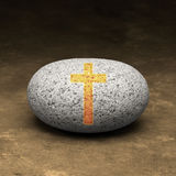 Cristianità la mia roccia Immagine Stock