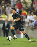 Cristiano Ronaldo in action. Cristiano Ronaldo of Real Marid CF in action during a Spanish League match against RCD Espanyol de Barcelona at the Estadi Cornella Royalty Free Stock Photography