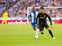 Cristiano Ronaldo in action Stock Images